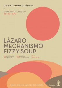 LÁZARO, MECHANISMO Y FIZZY SOUP. Un micro para el Sáhara @ Moby Dick Club | Madrid | Comunidad de Madrid | Spain