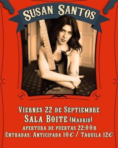 SUSAN SANTOS @ La Boite | Madrid | Comunidad de Madrid | Spain