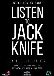 Jack Knife en la Sala El Sol @ El Sol