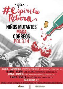 #ESPÍRITURIBERA: NIÑOS MUTANTES, POL 3.14, CORREOS @ Joy Eslava | Madrid | Comunidad de Madrid | Spain
