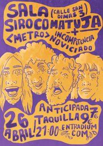 MATUJA + INCOMPETENCIA @ Siroco | Madrid | Comunidad de Madrid | Spain