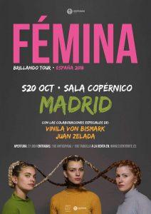 FEMINA, VINILA VON BISMARK Y JUAN ZELADA @ Copérnico