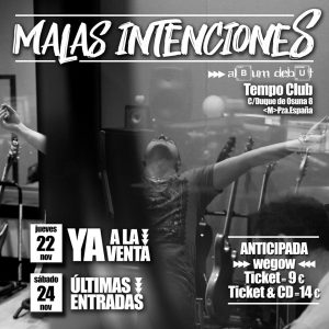 MALAS INTENCIONES @ Tempo Club