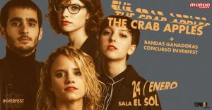 INVERFEST: THE CRAB APPLES @ Sala El Sol. C/ Jardines, 3. Madrid